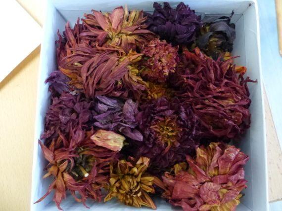 Auch Blüten dienen als Grundstoff