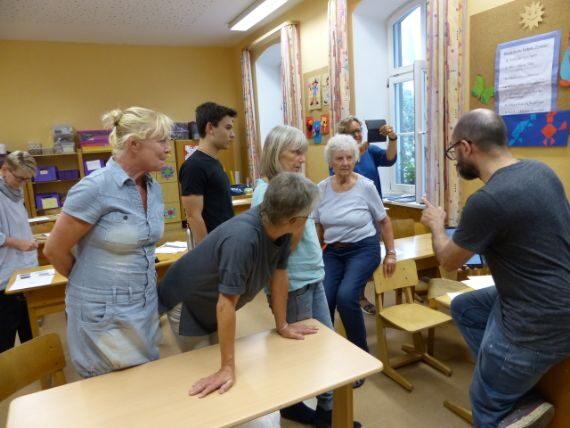 Aufmerksame Workshop-Teilnehmer