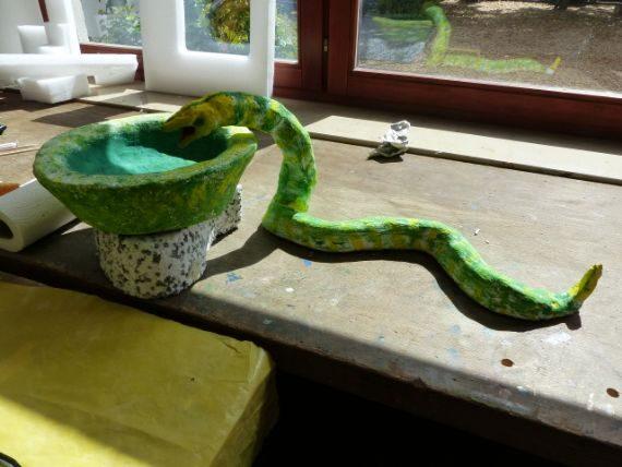 Bei Pfundsweiber darf die Schlange nicht fehlen